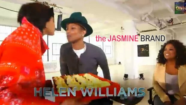 Pharrell Gets Kissy Face With Wife Helen On 'Oprah Prime' + Producer Gets 'Happy' With Oprah