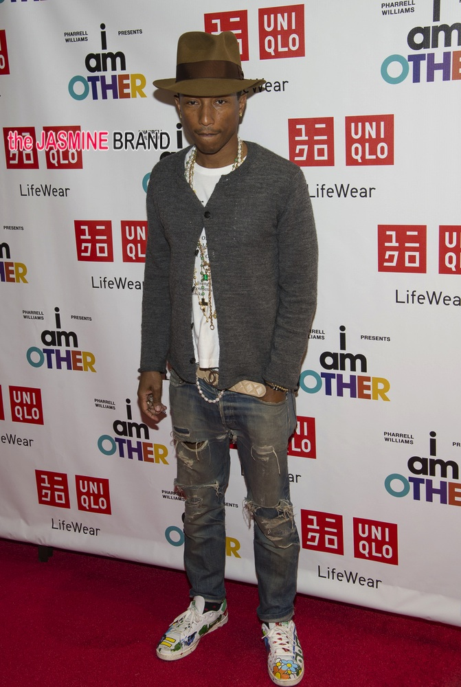 "Pharrell Williams UNIQLO ""I Am Other"" Collection Launch in New York City on April 28, 2014"