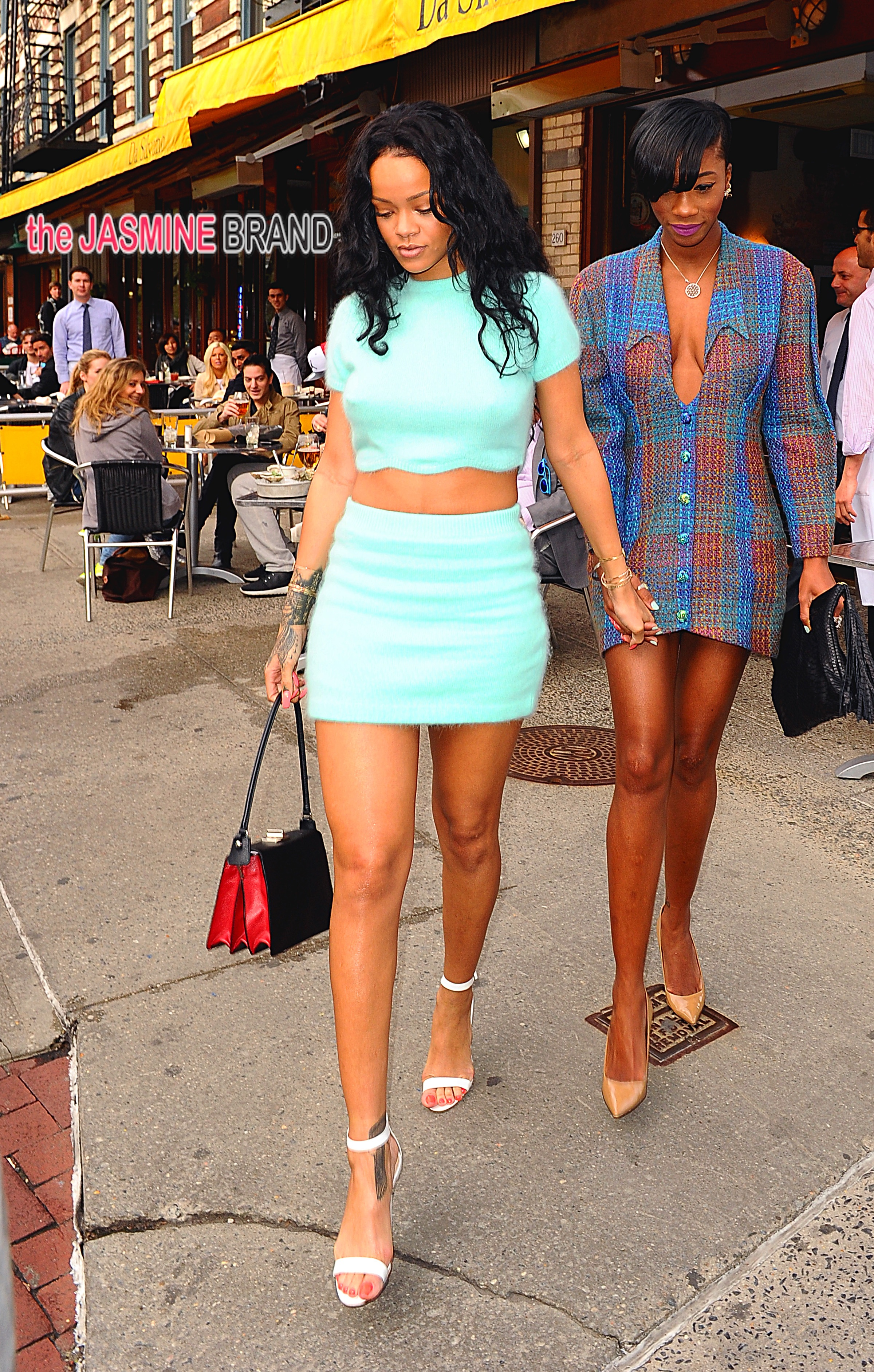 Rihanna leaves Da Silvano Restaurant after lunch in New York City