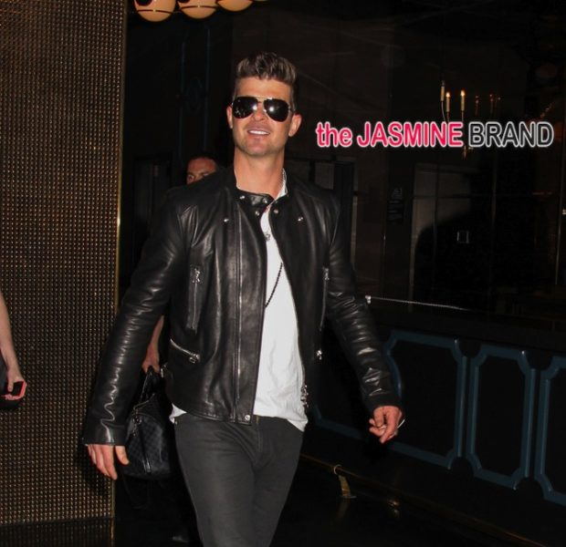 I'm Single!!! Robin Thicke Throws A LA Divorce Party