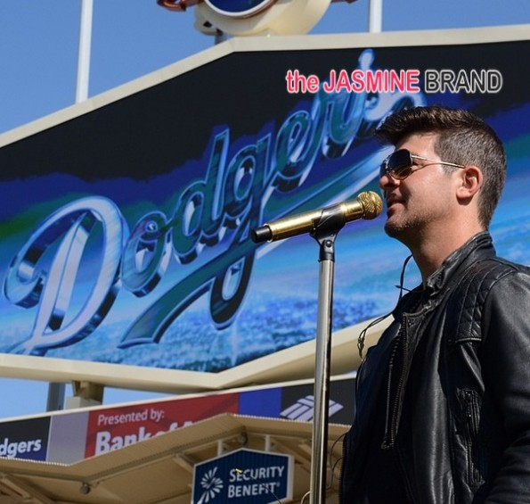 robin thicke-performs at dodgers game 2014-the jasmine brand