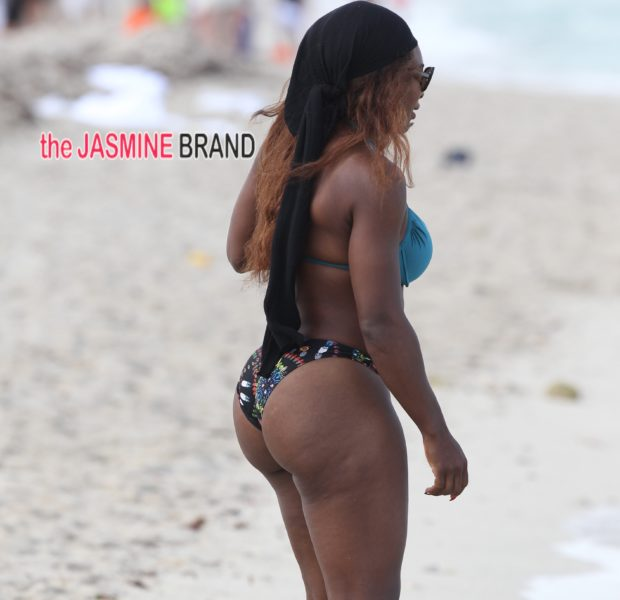 My Beach Booty Is Better Than Yours! Serena Williams Serves Sex & Muscle On Miami Beach