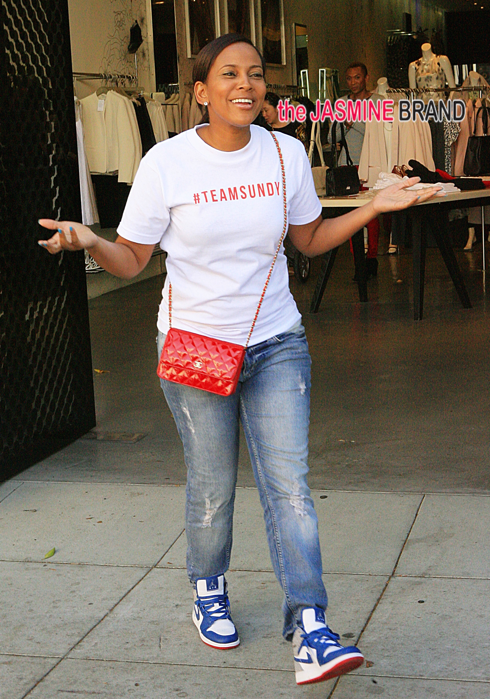 Sunday Carter in Beverly Hills for some retail therapy