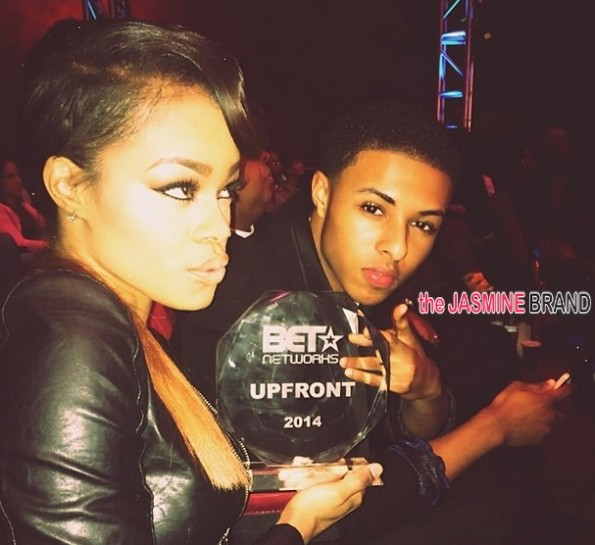 teyana taylor-diggy simmons-BET Upfront 2014-the jasmine brand