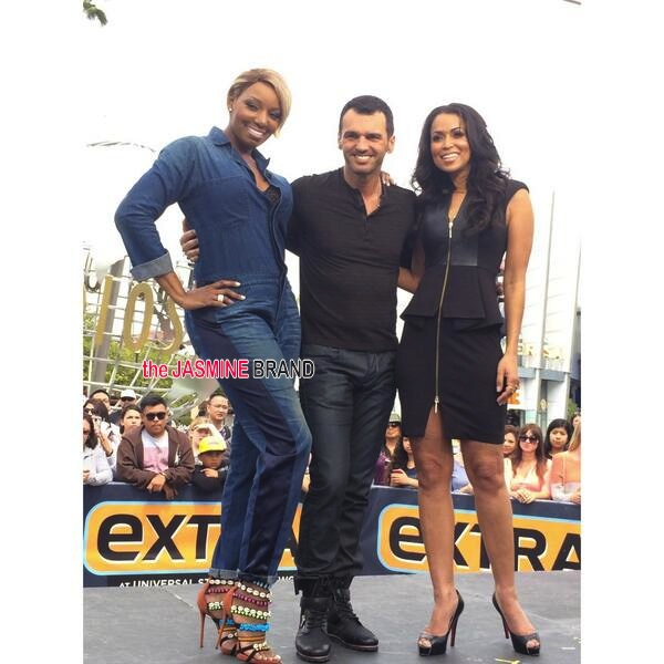 tracey edmonds-interviews nene leakes-set of extra-2014-the jasmine brand