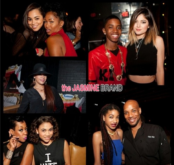willow smith-faith evans-diddy-throws swervin 16th-birthday party-son christian combs-the jasmine brand