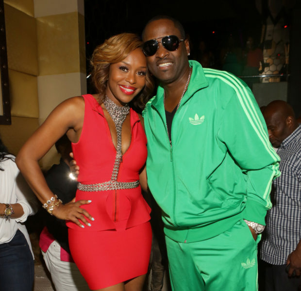 Party Behavior: New Edition's Johnny Gill & Married to Medicine's Quad Webb-Lunceford Go Clubbin'