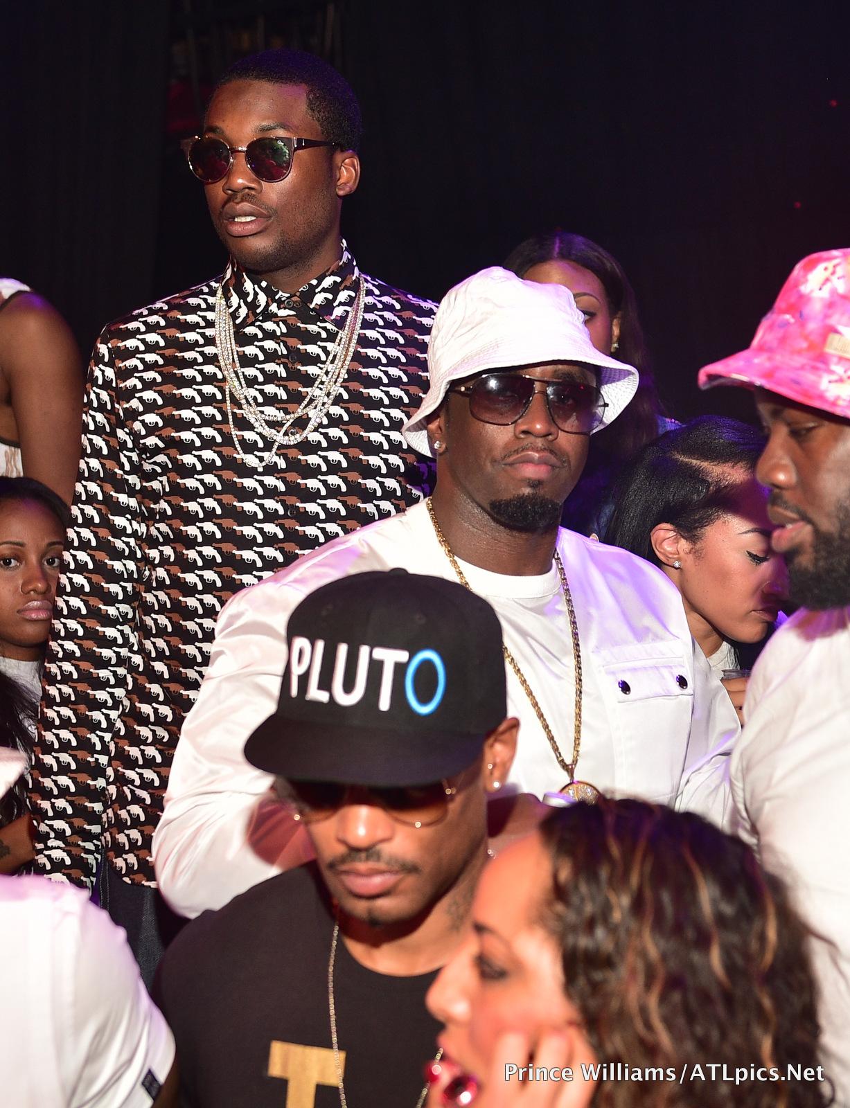 Celebrity Party Scene: Diddy, Karrueche, Flavor Flav, Meek ... Meek Mill And Teyana Taylor