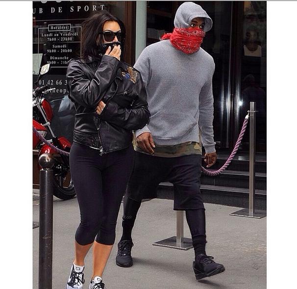 #TeamFitness Kanye West & Kim Kardashian Spend Final Pre-Wedding Days Hitting the Gym