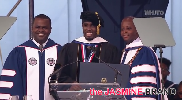 atlanta mayor-diddy combs-commencement speech-howard university 2014