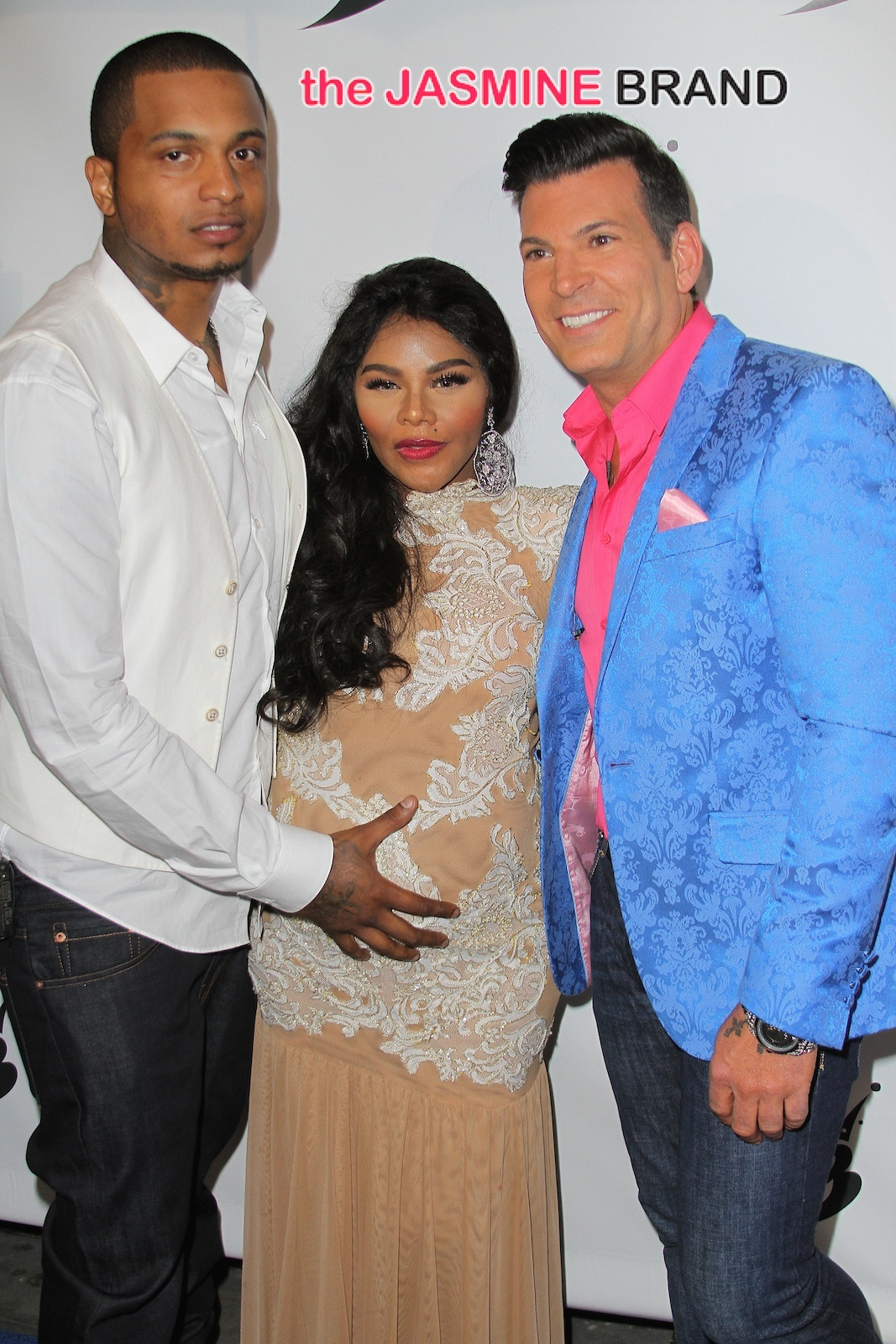 Lil Kim and Mr Papers arrive to their baby shower at Broad St Ballroom in NYC