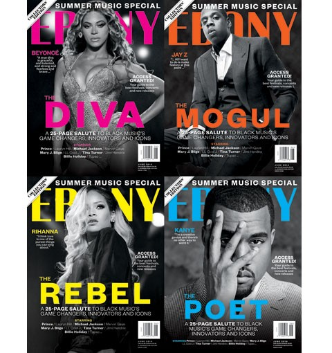 Sharing Is Caring: Beyonce, Jay Z, Rihanna & Kanye West Cover EBONY Magazine