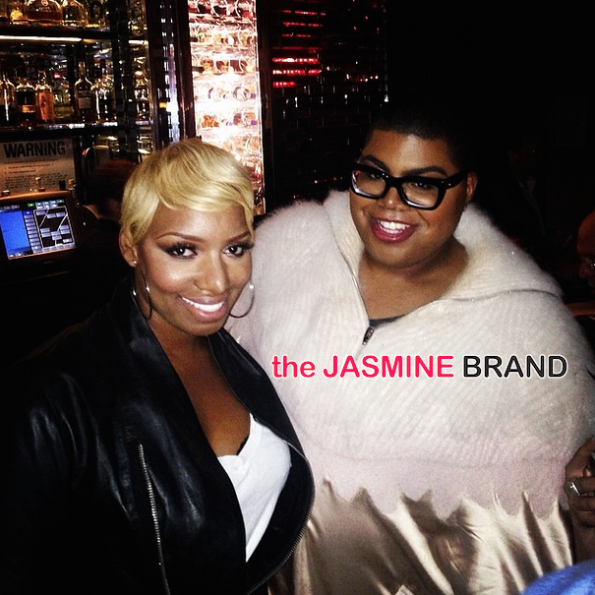 ej johnson-poses with nene leakes-the jasmine brand