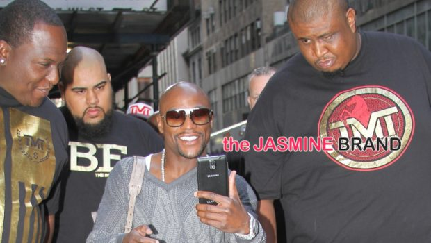 Celebrity Stalking: Floyd Mayweather Carries Bag Full of Cash, Tracee Ellis Ross Hits Promo Run, Usher Brings Kiddies to Work + Erica Campbell Gets Goofy With Kirk Franklin