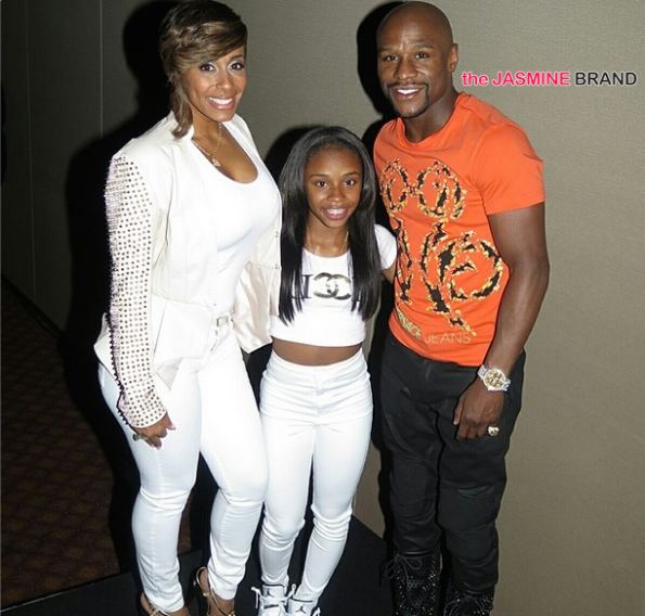 floyd mayweather-throws daughter iyanna huge b bash 2014-the jasmine brand