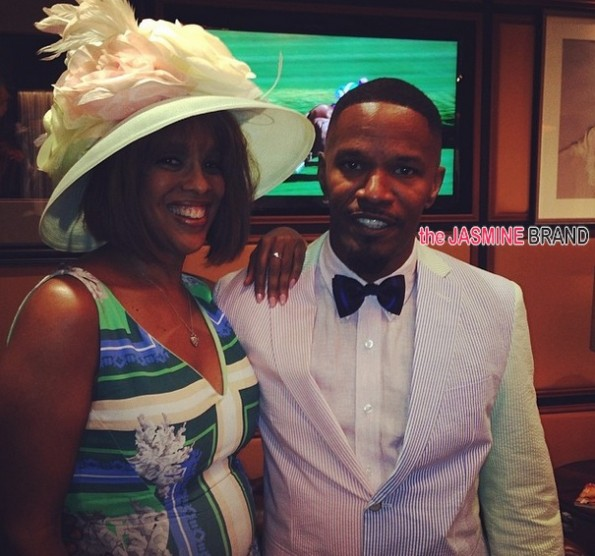gayle king-jamie foxx-celebs kentucky derby 2014-the jasmine brand