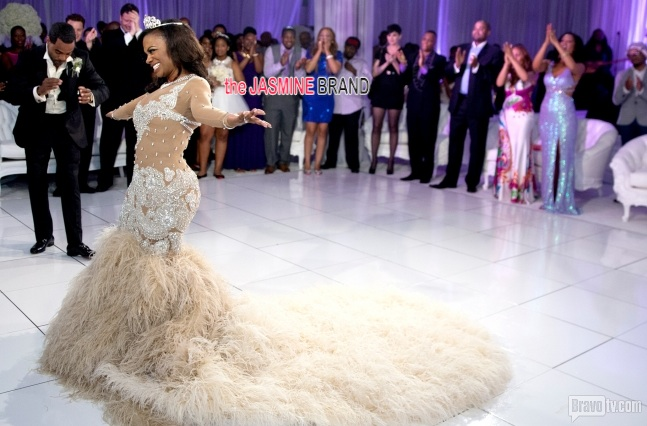 Here comes the bride kandi burruss 39 official wedding for Coming to america wedding dress