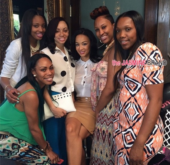 group shot-basketball wives la-draya-empowerment brunch-films rumored spin off 2014-the jasmine brand