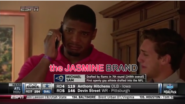 i-michael sam-first openly gay player drafted nfl-kisses boyfriend-the jasmine brand.jpg
