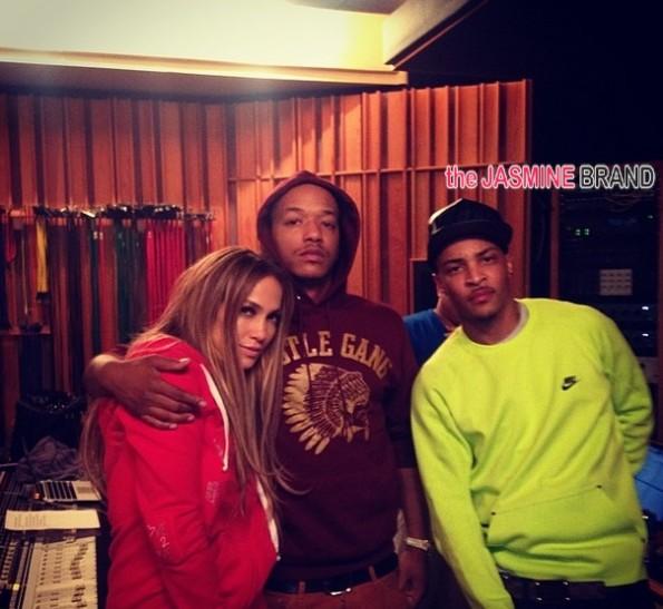 jlo-studio with rapper ti-the jasmine brand