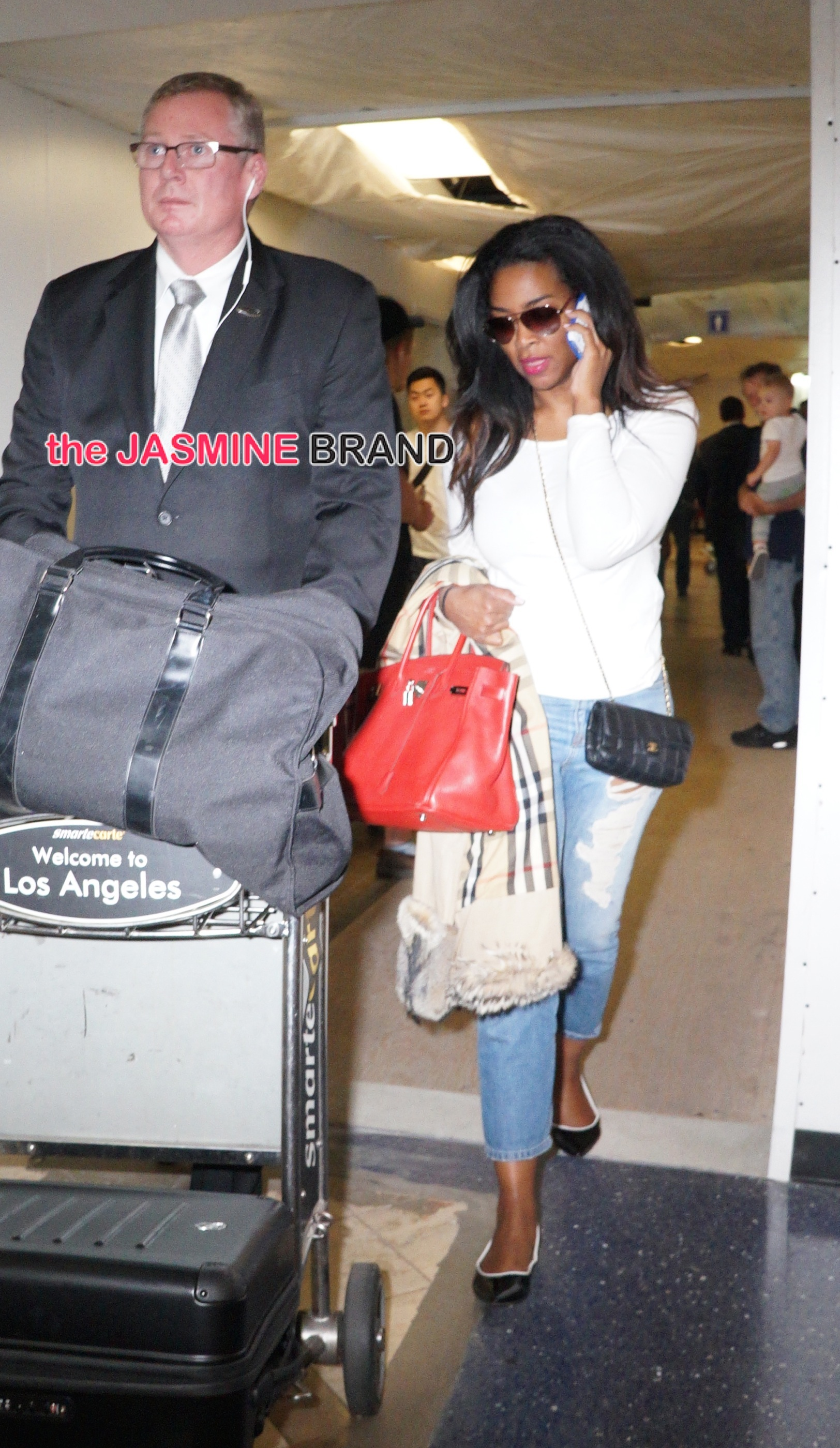 Kenya Moore arrives at LAX
