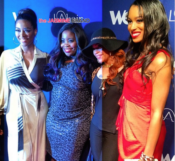 kenya moore-kim kimble-faith evans-la hair-season 3-season premiere party 2014-the jasmine brand