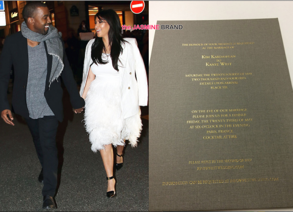 Kim Kardashian Wedding Invitation: Change Of Plans: Kim Kardashian & Kanye West To Marry In