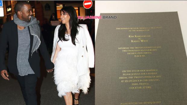 Look! Kim Kardashian & Kanye West Wedding Invitation Revealed