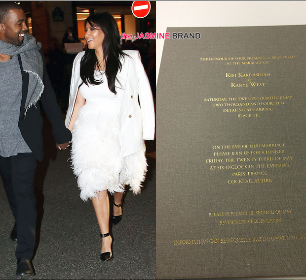 Look! Kim Kardashian & Kanye West Wedding Invitation Revealed