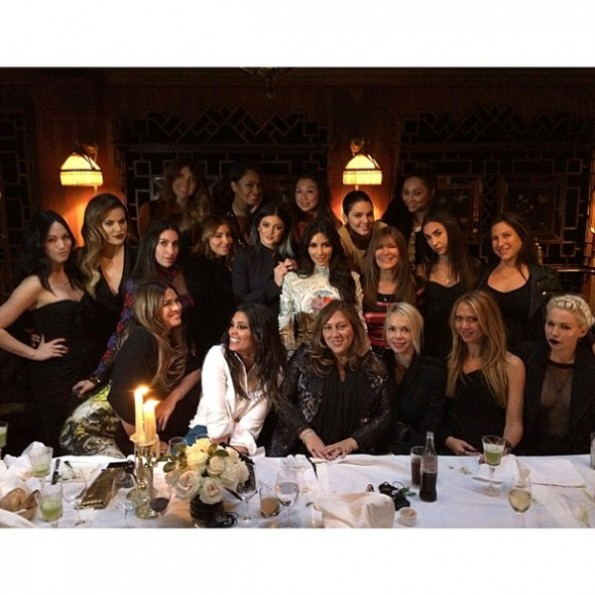kim kardashian-last supper before wedding-paris 2014-the jasmine brand