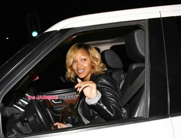 Actress Meagan Good is all smiles as she leaves Cecconi's  in West Hollywood , CA