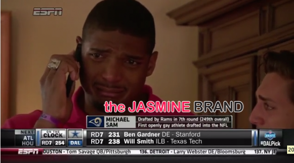 michael sam-first openly gay player drafted nfl-kisses boyfriend-the jasmine brand.jpg