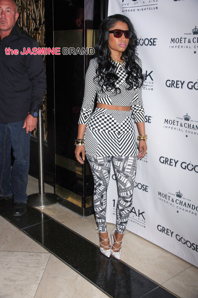 Nicki Minaj Hosts Memorial Day Weekend at 1Oak Nightclub in Las Vegas on May 23, 2014
