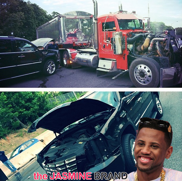 [Photos] Rapper Fabolous Credits God After Serious Car Accident