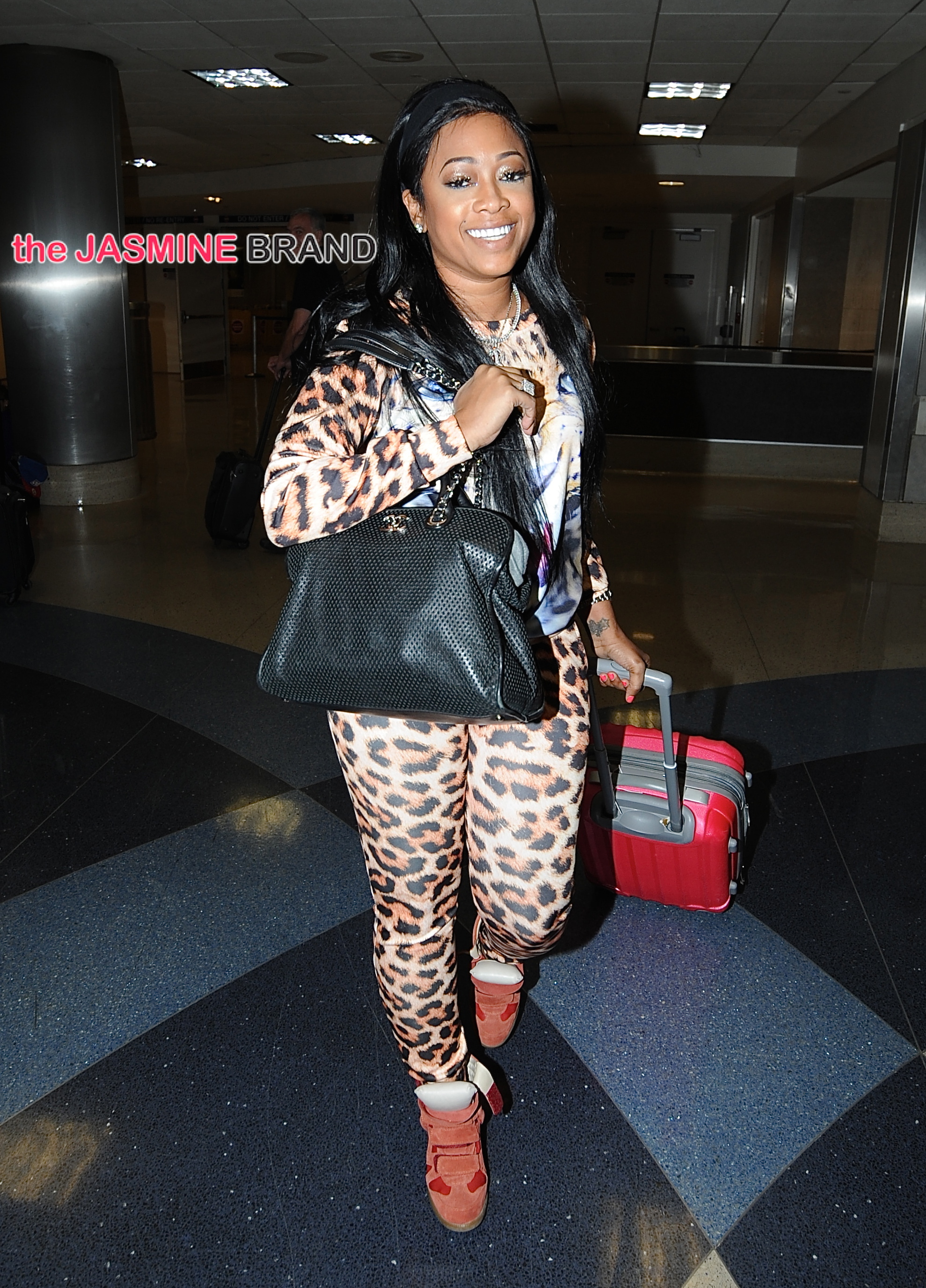 Trina arrives at LAX