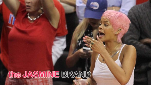 Pinks Have More Fun! Rihanna Raids Nicki Minaj's Wig Closet For Clippers Game