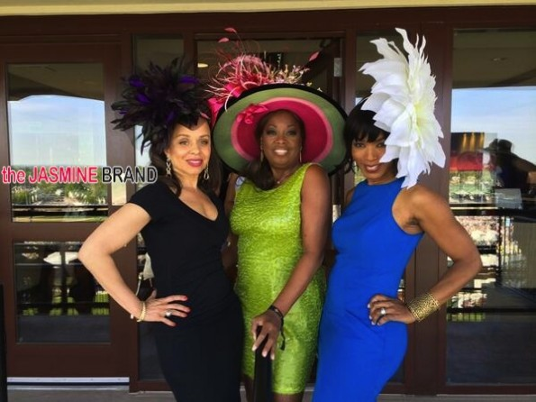 star jones-angela bassett-kentucky derby 2014-the jasmine brand
