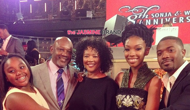 [Photos] Brandy & Ray J's Parents Celebrate 39th Wedding Anniversary