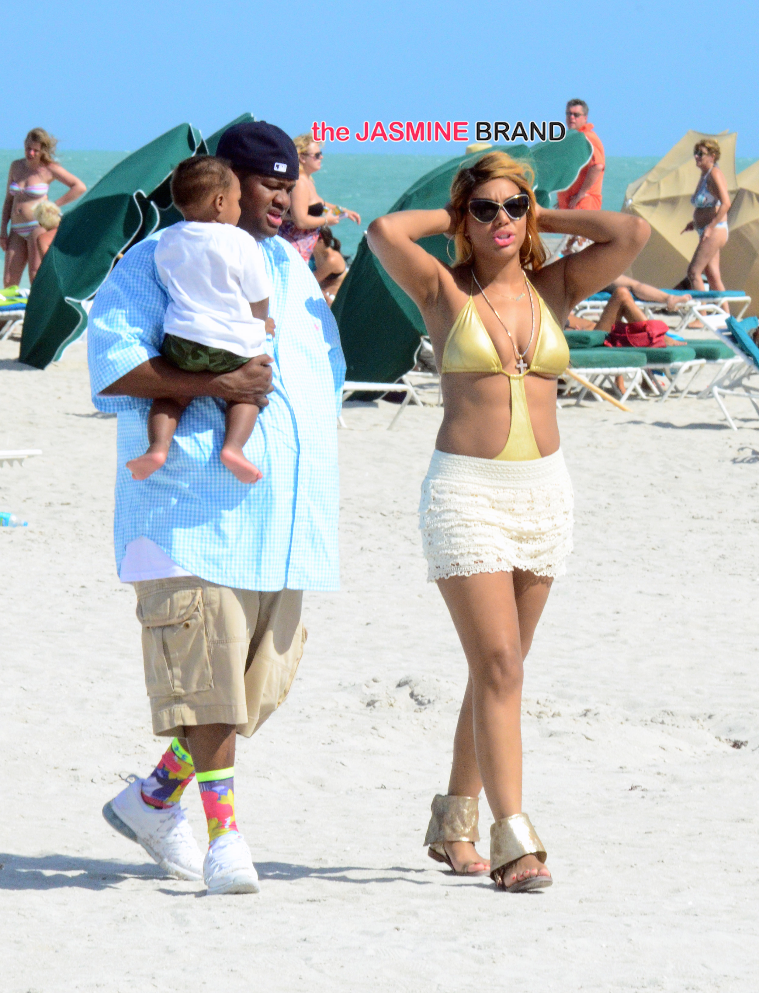 Tamar Braxton on the Beach in Miami
