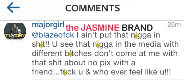 tameka tiny harris-releases instagram statement-mayweather ti fight-the jasmine brand