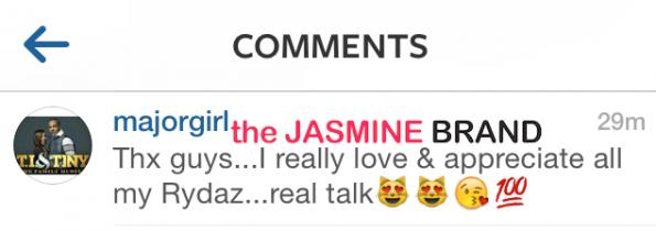 thanks supporters-tameka tiny harris-releases instagram statement-mayweather ti fight-the jasmine brand