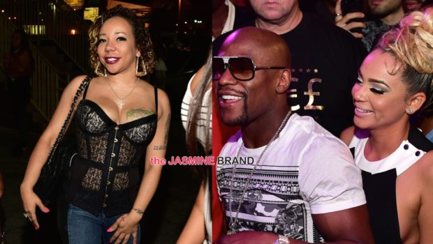 Floyd Mayweather Parties With New Girlfriend Doralie 'Bad' Medina + Tameka 'Tiny' Harris Attends