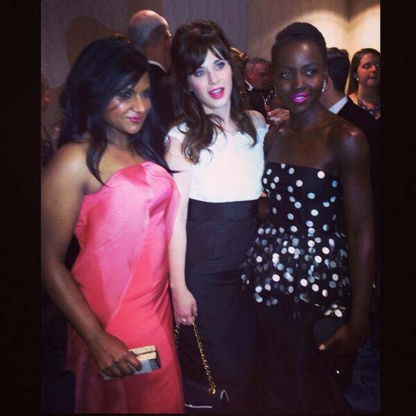 zooey deschanel-lupita nyongo-nerd prom-white house correspondents dinner 2014-the jasmine brand