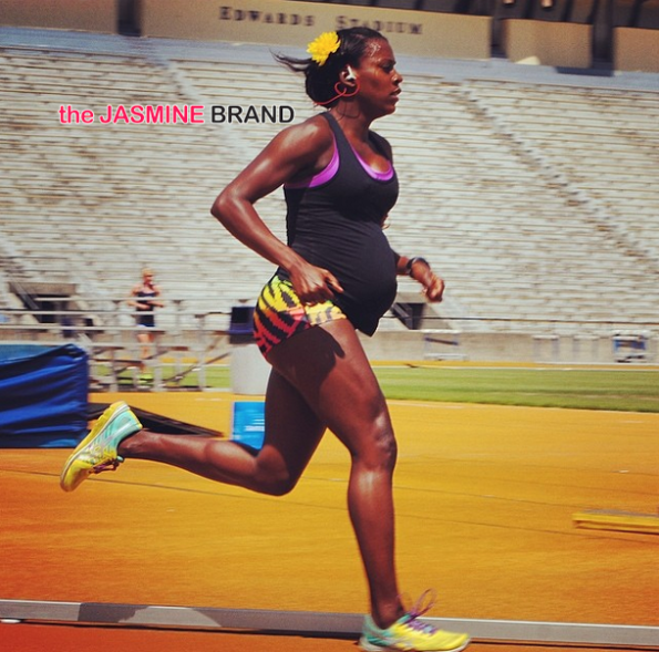 Alysia Montaño compets track and field while pregnant the jasmine brand