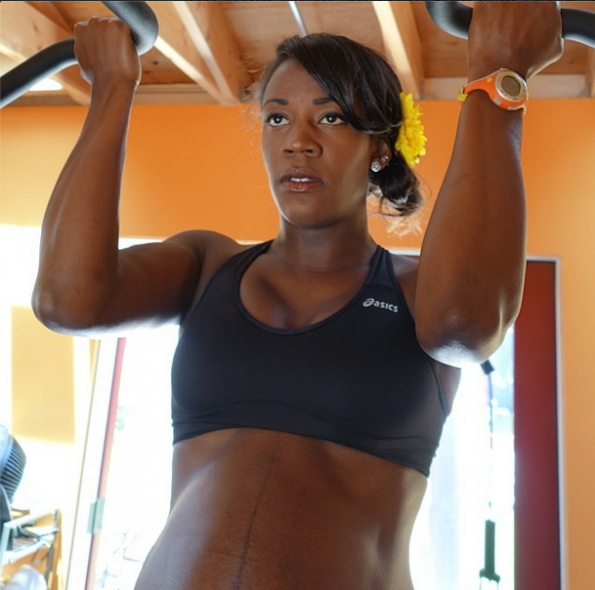 Alysia Montaño exercises preps fro track and field while pregnant the jasmine brand