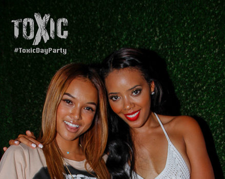 [Photos] Angela Simmons, NeYo & Karrueche Spotted Partying at LA Day Party
