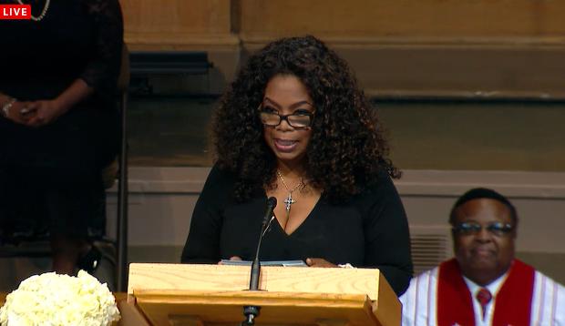 [VIDEO] First Lady Michelle Obama, Cicely Tyson, Oprah Winfrey Speak @ Maya Angelou's Memorial + Watch Full Service