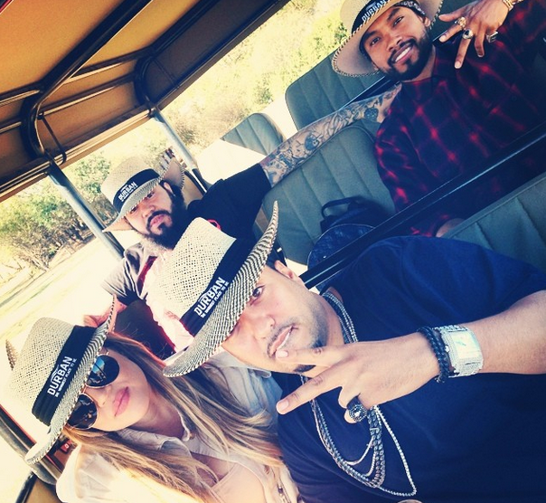[Photos] Khloe Kardashian, French Montana & Miguel Visit South Africa