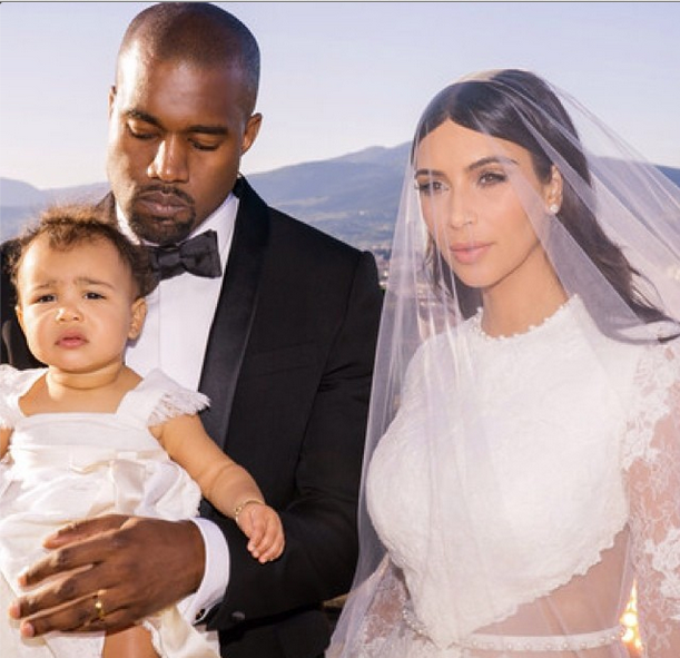 Look! Baby North West Steals The Show In New KimYe Wedding Photos