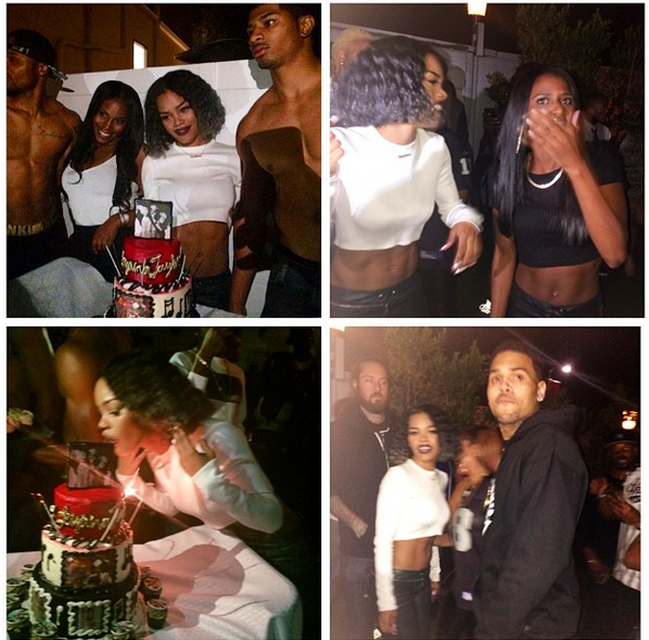 Tisha Campbell, Chris Brown & Lil Mama Attend Teyana Taylor's Listening Party